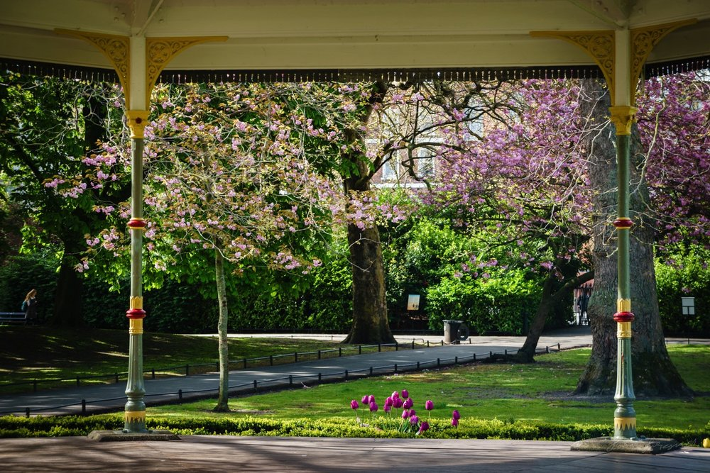 Spring flowers around the Gazebo in Stephen's Green