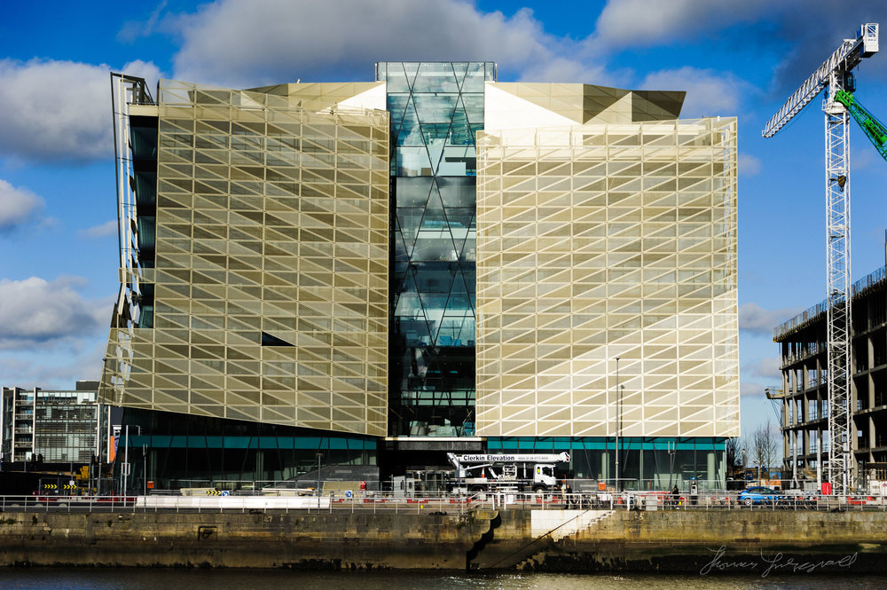 Dublin's New Central Bank building in the Docklands