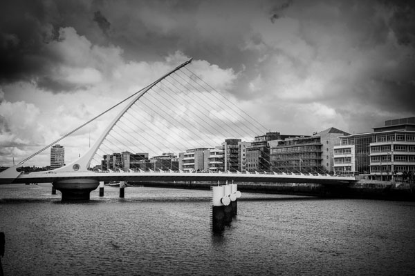 Samuel Beckett Bridge Black and White