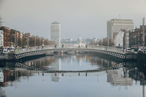 A Foggy day on the River Liffey