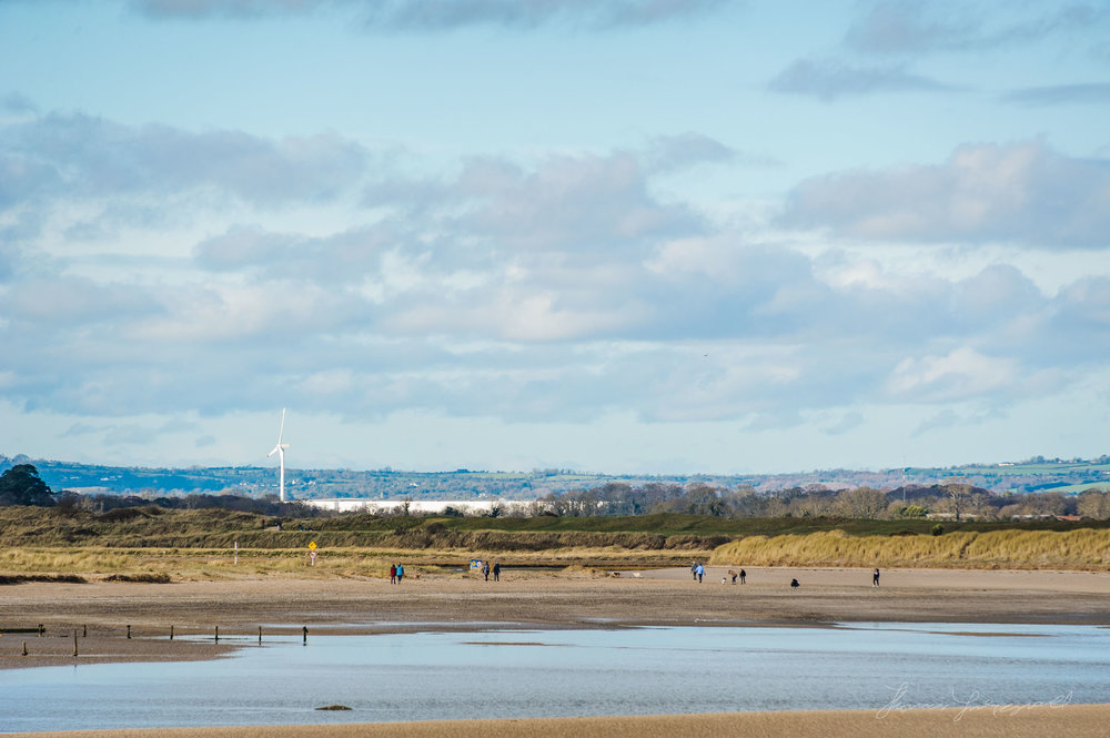 Looking back at Malahide from the coast road