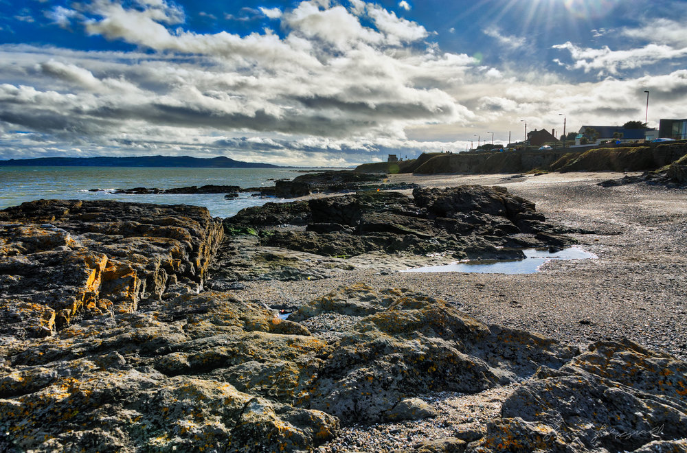 Rocky beach between Malahide and Portmarnock