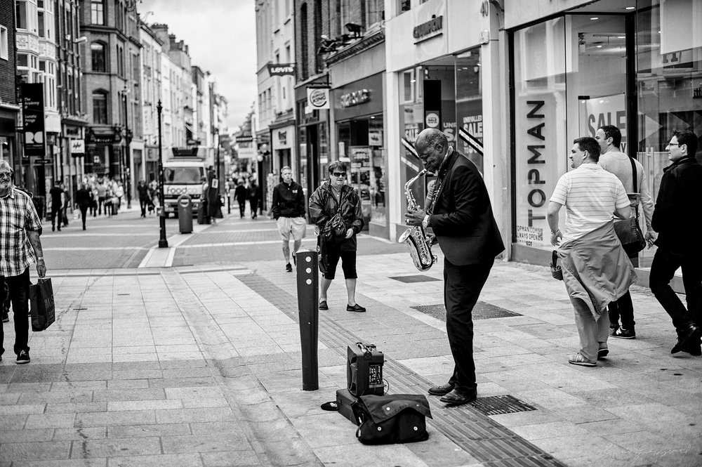 Busker on Grafton Street - The Streets of Dublin