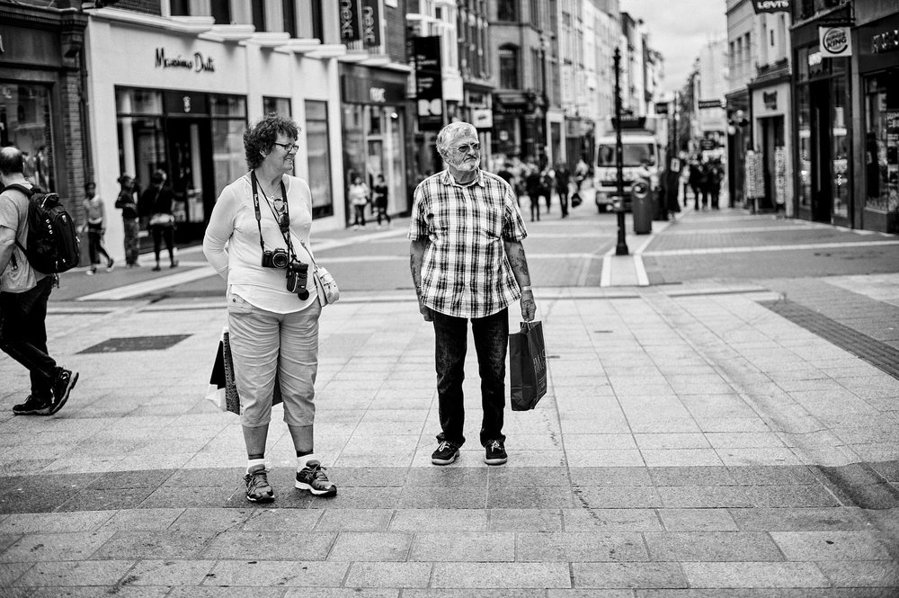 Tourists on Grafton Street - The Streets of Dublin