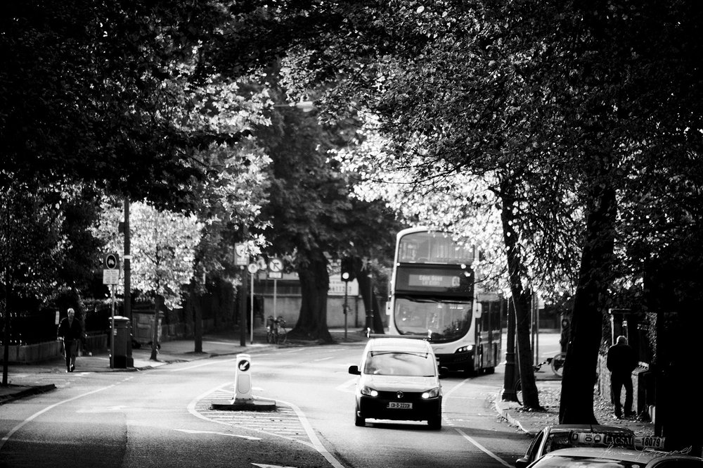 Bus and Car - The Streets of Dublin