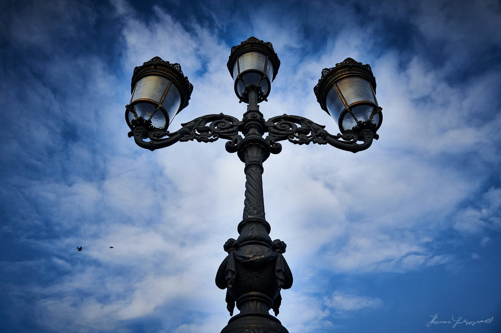 Lamp over the O'Connell Bridge