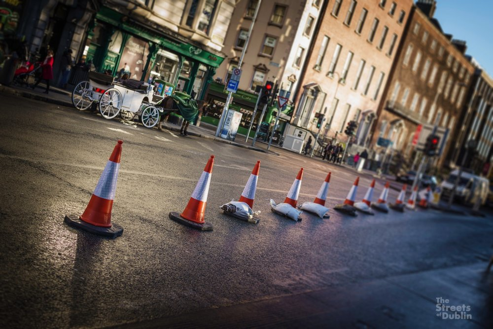 Traffic Cones at Stephen's Green