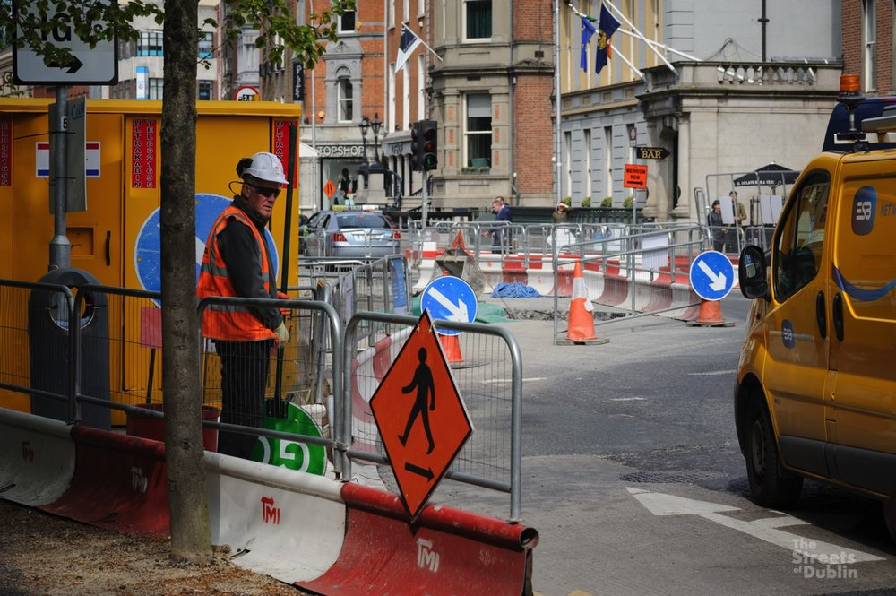 Directing Traffic during road Works