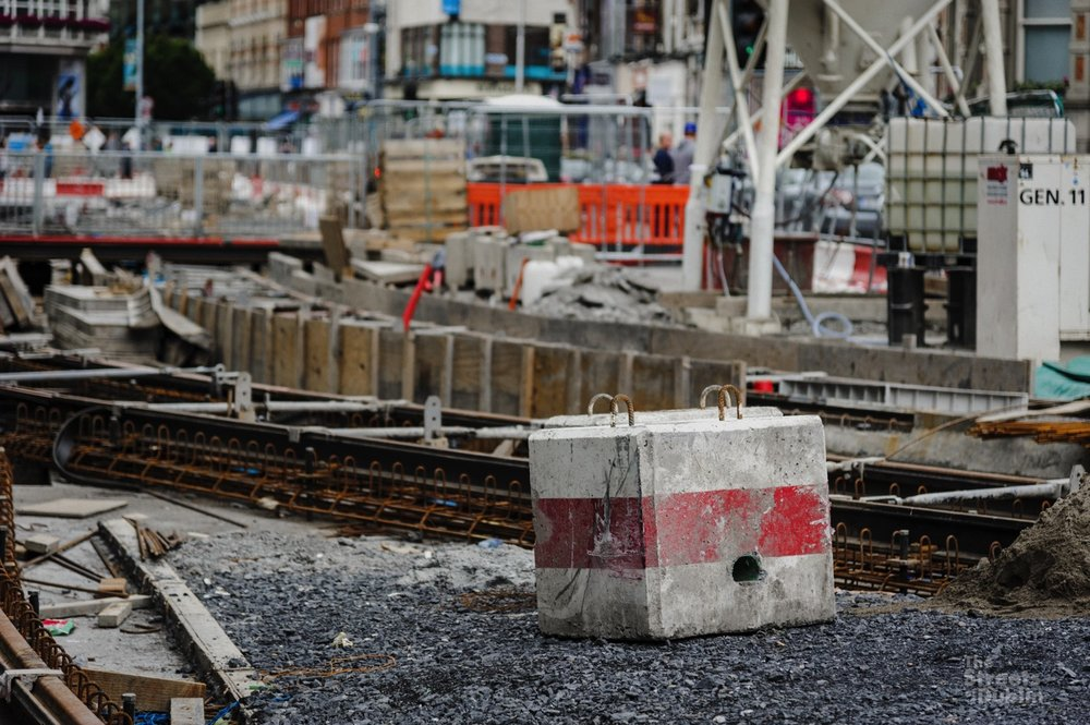 Luas Track Construction