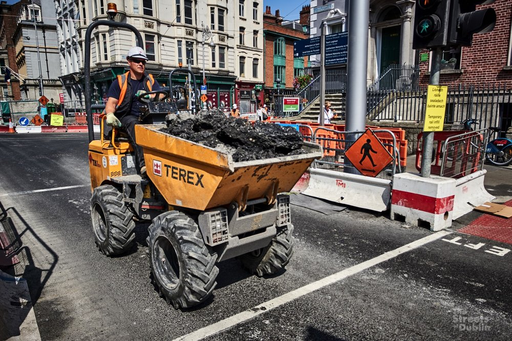 Dump Truck on Stephen's green