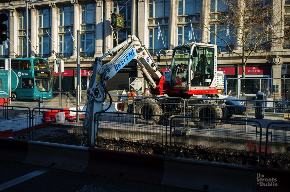 Luas Cross City Construction Work