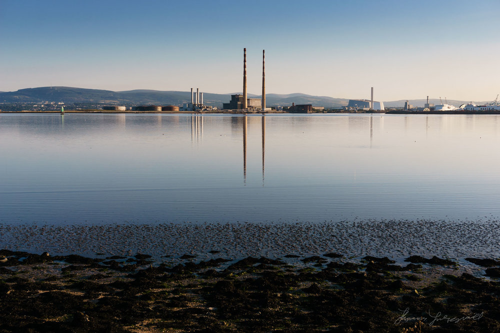 Low tide and Poolbeg Towers
