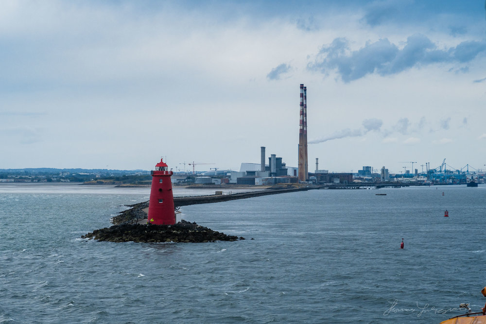 Lighthouse as you approach Dublin