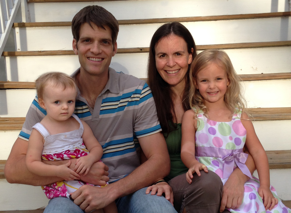 Brian with wife Karly and their daughters Brooke (Left) and Kelsey (Right)