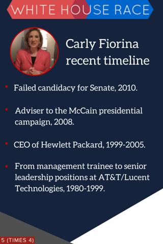carly fiorina 2016 timeline