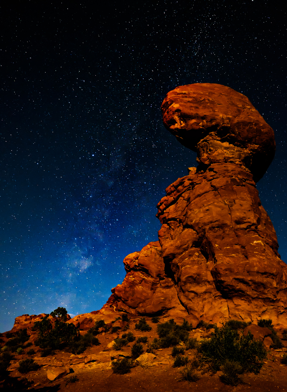 Balanced Rock by Moonlight
