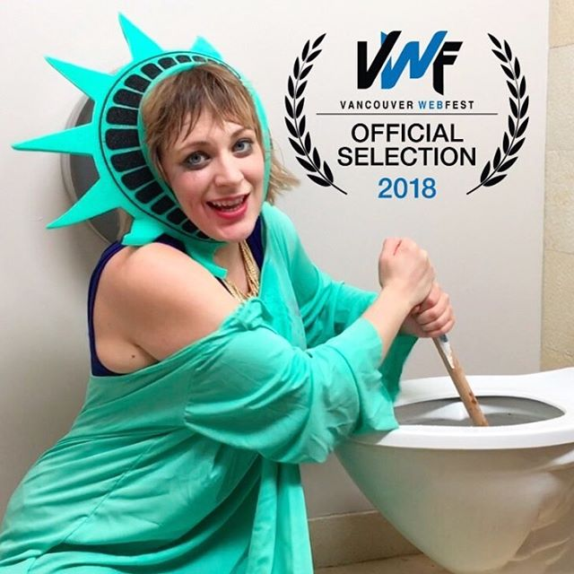 LADIES, YAS! Season 2 is an Official Selection AND Nominated for Best Comedy at the esteemed @vanwebfest this April... . . . . . #lady #tips #filmfestival #trend #girl #vancouver #ladies #canada #comedy #filmfest #women #ladyliberty #ladytips #makeup #bathroom #webfest #actress #webseries #statueofliberty #laurels #plunger #actor #writers #filmmakers #indiefilm #filmmaking #director  #independentfilm #movies #tv
