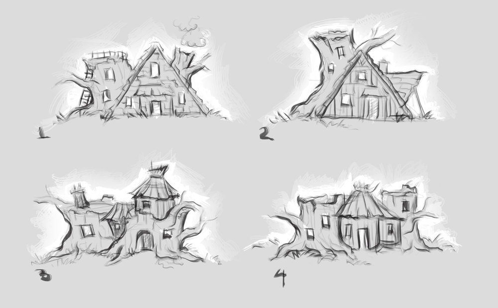 Visual development, sketch 1 (BY HELEN)