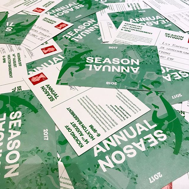 @SeasonAnnual printed invites for the launch of our third edition are on their way! - Everyone is welcome I n the 14th August 2018, at the Hoxton Basement to celebrate. Free beer and football, what's not to like? - @seasonannual 2017/18 will be available to pre-order via our website very soon. Watch this space. - #season #seasonannual #football #soccer #annual #premierleague #premier #league #amazing #original #illustration #design #graphic #graphicdesign #instagood #follow #photooftheday #magazine #book #comingsoon #kickstarter #backing #preorder #support #launch #exhibition #party