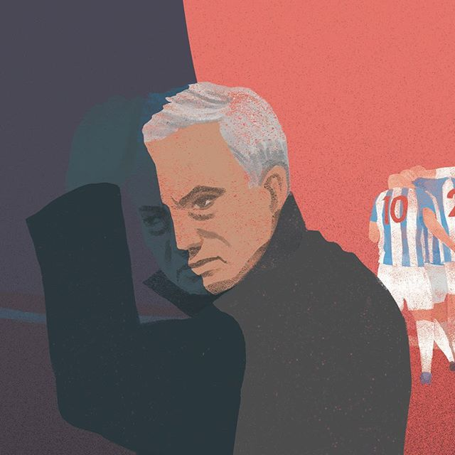 Is Mourinho the one to blame for Man United's worst start in 28 years? Illustration by @agne_ziukaite (1/2) - Grab your copy of @seasonannual 2017/2018 via our online shop. (Link in bio) Re-live all the action from last season - every game, every goal, all the best moments and all the best stats, beautifully illustrated. - #season #seasonannual #football #soccer #annual #premierleague #premier #league #amazing #original #illustration #design #graphic #graphicdesign #instagood #follow #photooftheday #magazine #book #availablenow #mourinho #manunited #manchesterunited #mufc