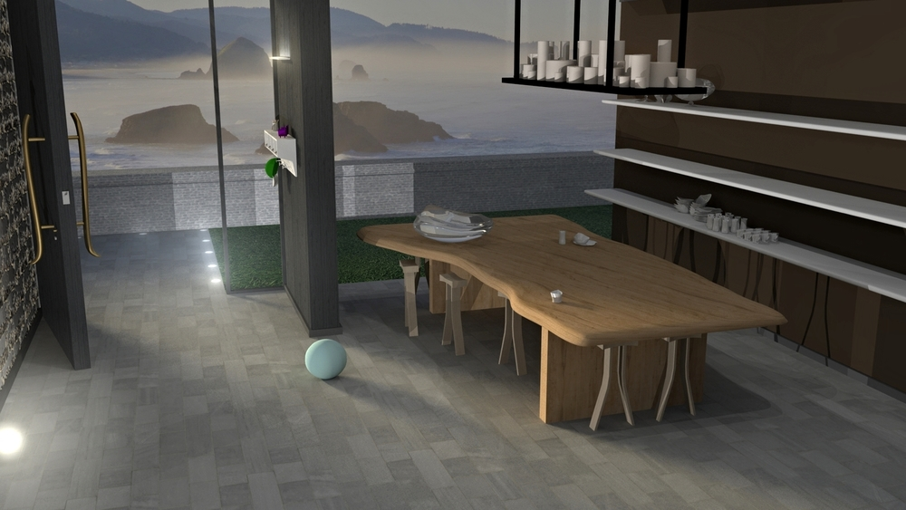 Room designed in Autodesk Maya