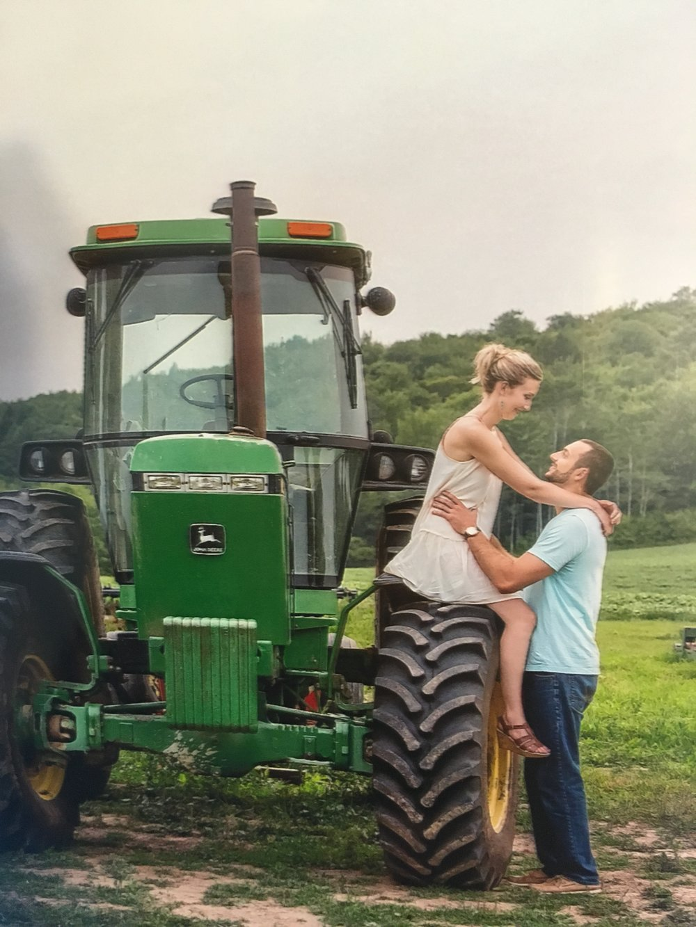 2016 ~ Engagement photos on the farm.  Our daughter and future son-in-law.