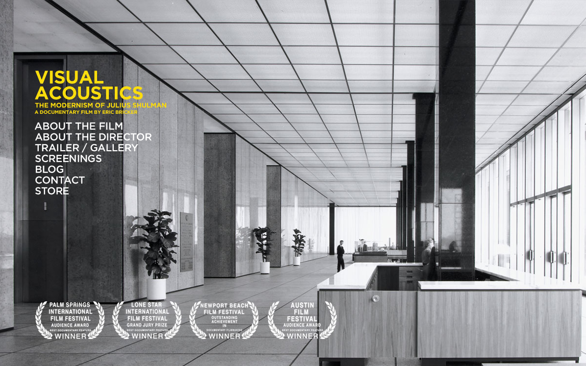 Julius Shulman Documentary This is not new, but I only recently came across it on the web. It looks like the film is moving to wider, though still very limited, release soon. I'll be keeping an eye out for this one.