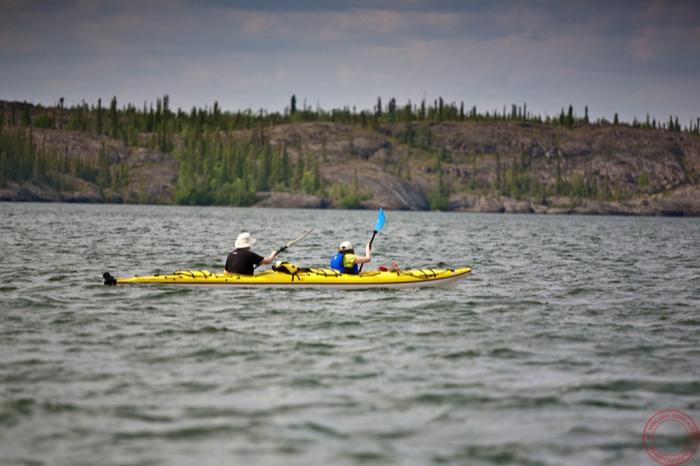 Intrepid kayakers