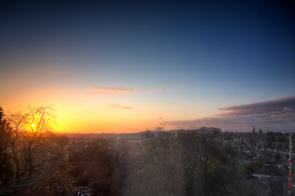edinburgh scotland sunrise