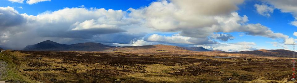 panorama scotland highlands mountain