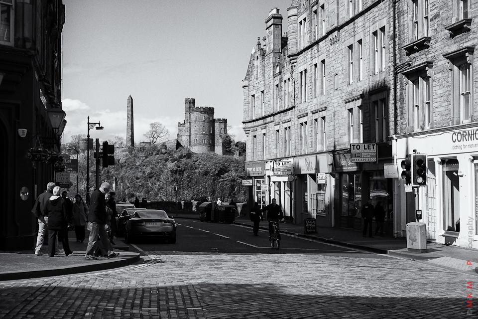 street castle scotland landscape urban