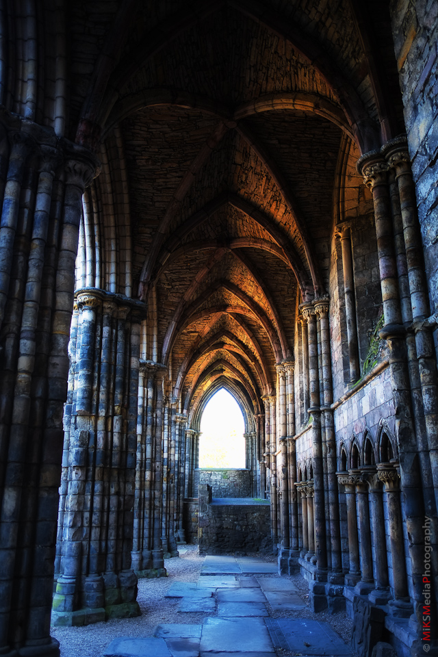 holyrood abbey scotland hdr photography