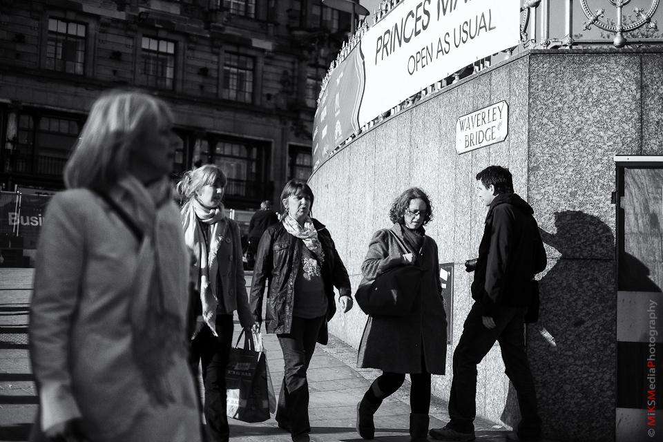street people urban edinburgh scotland