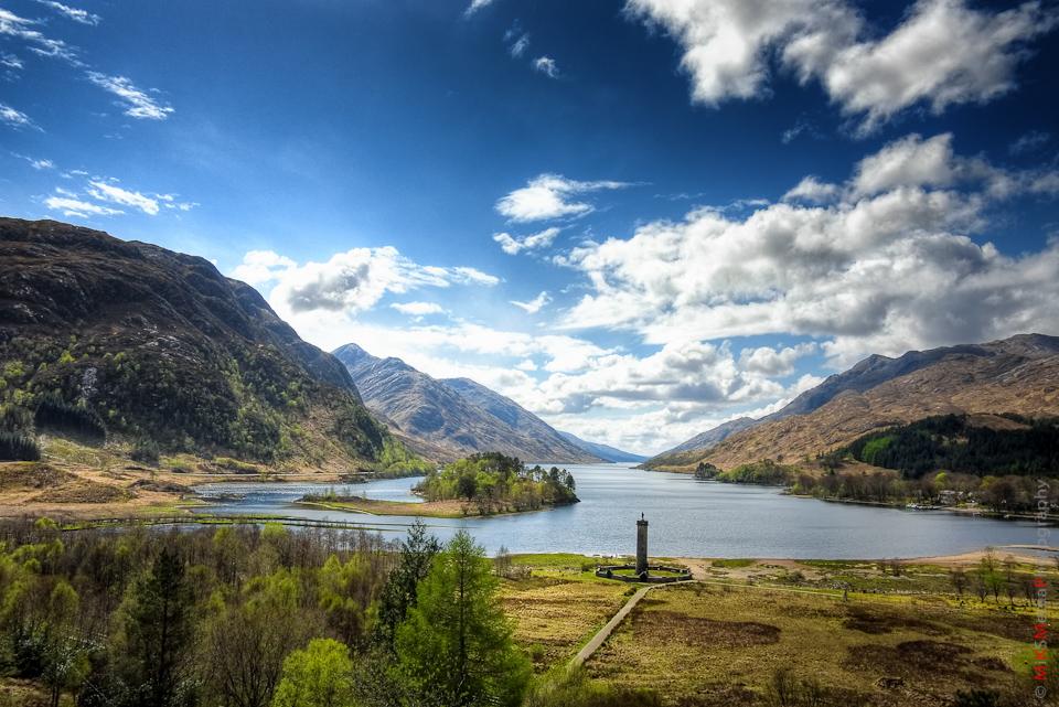 Glenfinnan lake landscape scotland