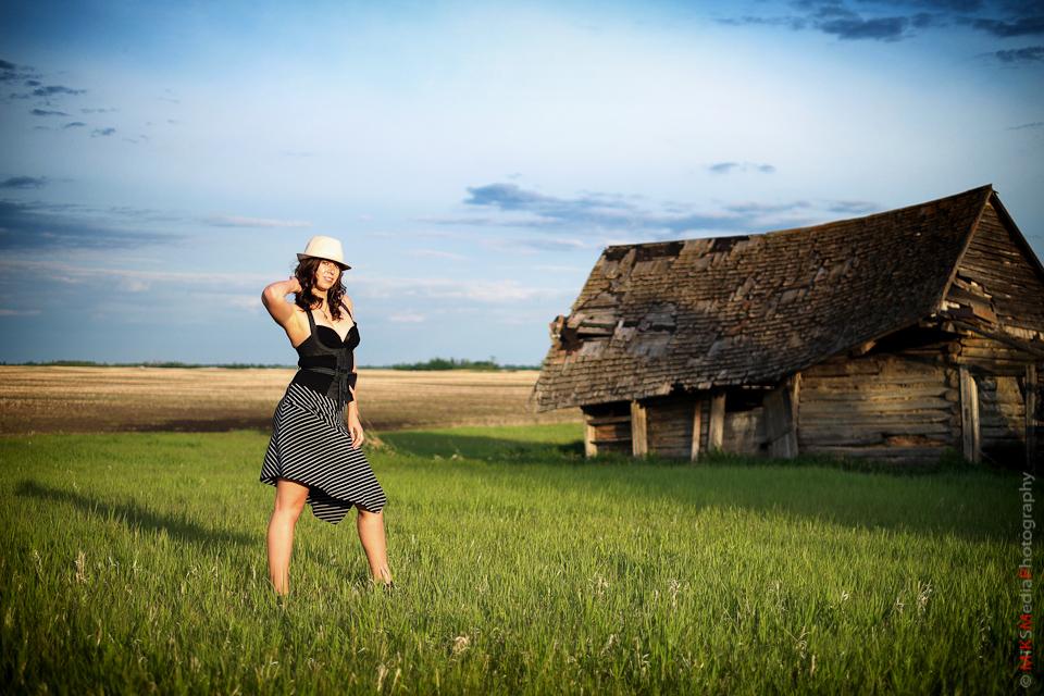 woman hat farm old landscape photography