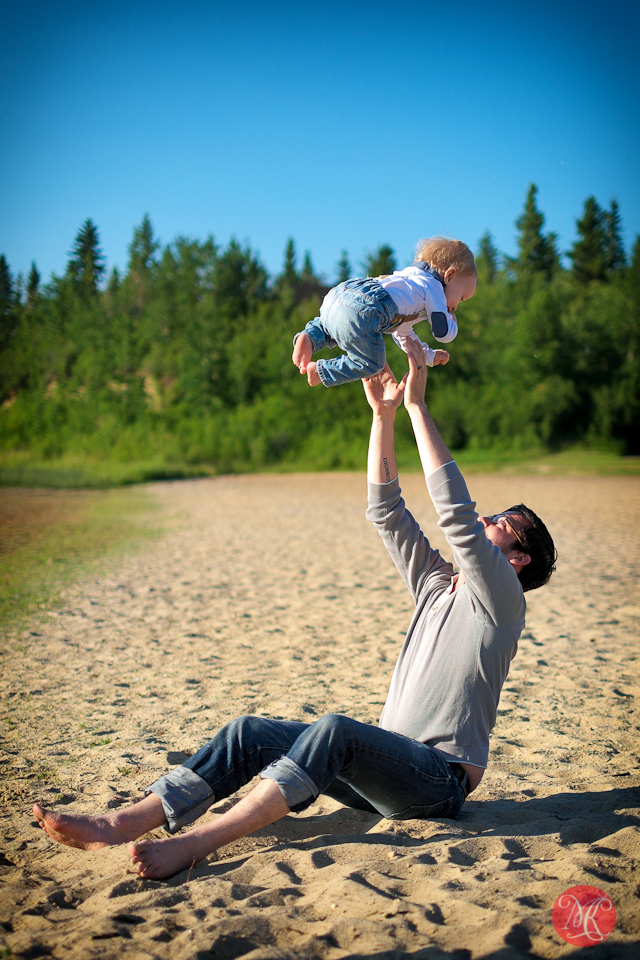 father son beach family photographer edmonton