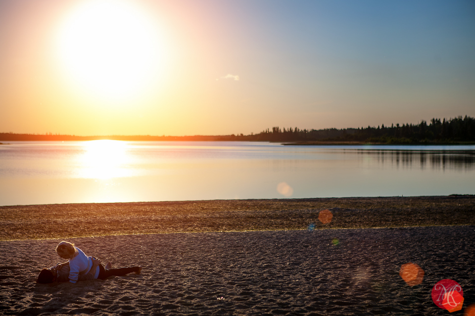 sunset beach couple love family edmonton photographer