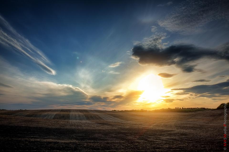 alberta sunset lake landscape