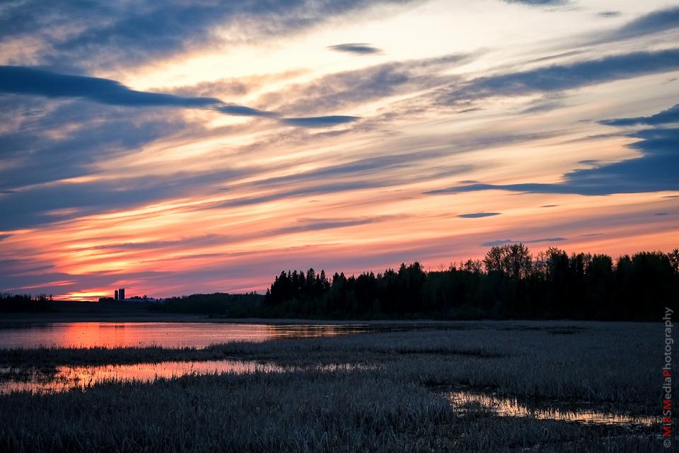 sky alberta sunset landscape