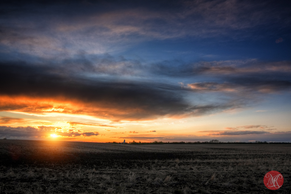HDR sunset alberta landscape edmonton