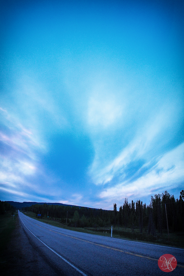 twilight road jasper landscape photography