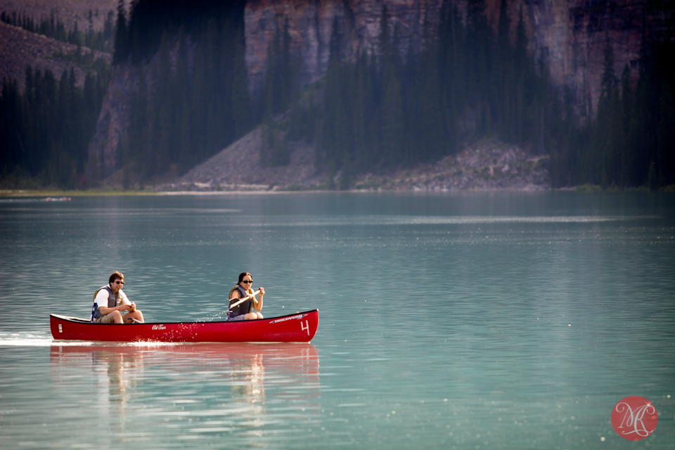 canoe mountain banff lake louise photography