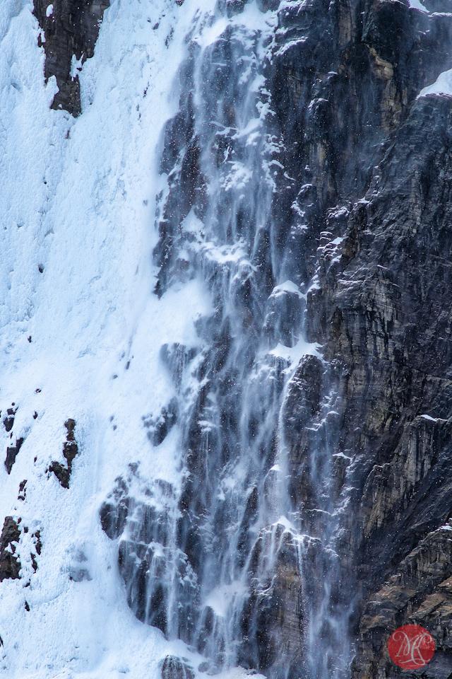 snow avalanche detail jasper alberta