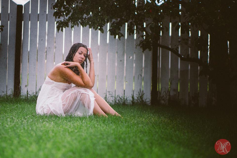 girl sexy rain watter portrait edmonton photographer