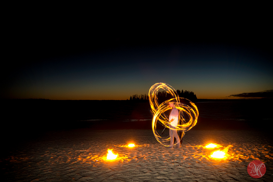 sunset artist fire performer bryton