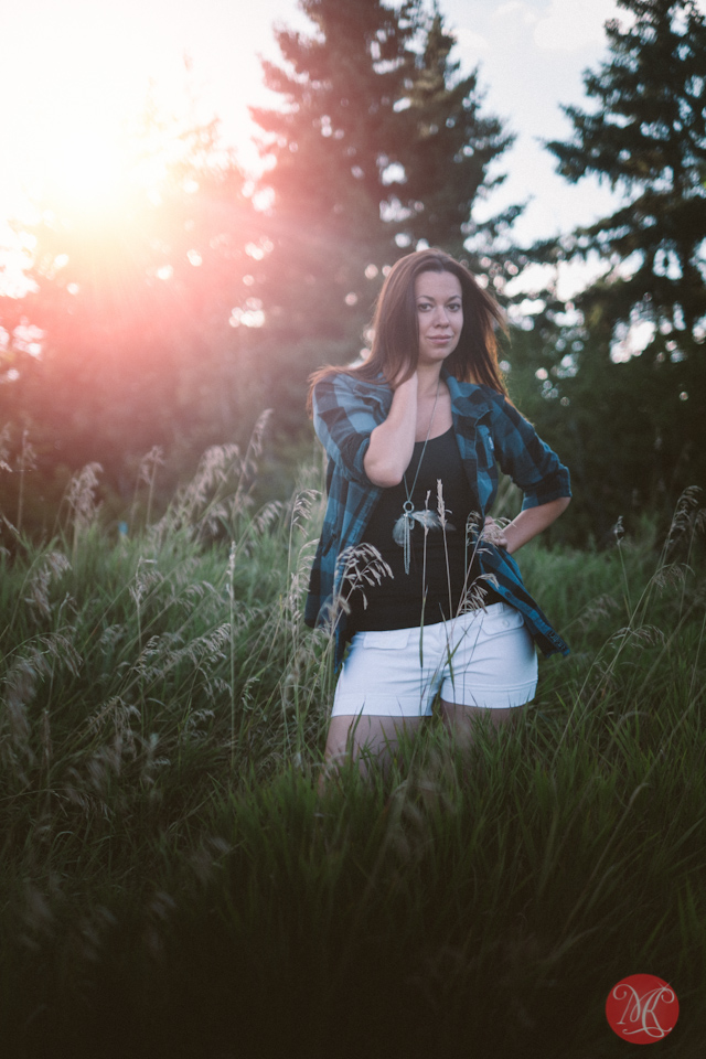lifestyle portrait woman nature field alberta edmonton photographer