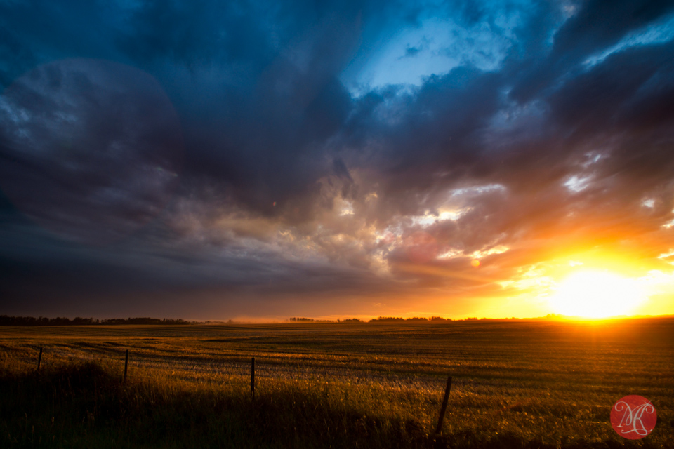 alberta sunset hdr landscape photography