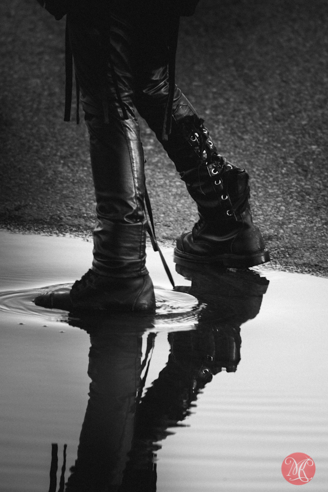 lifestyle boots water reflection