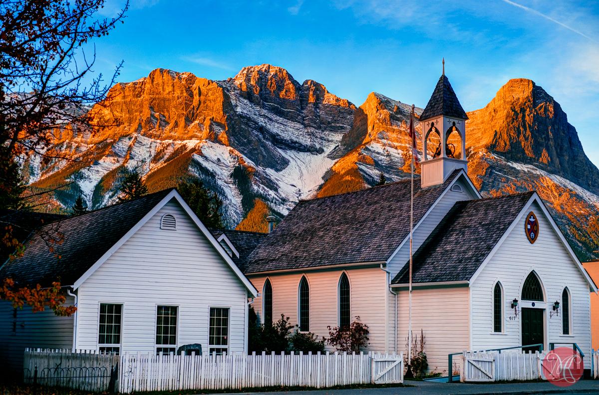 church mountain sunrise alberta