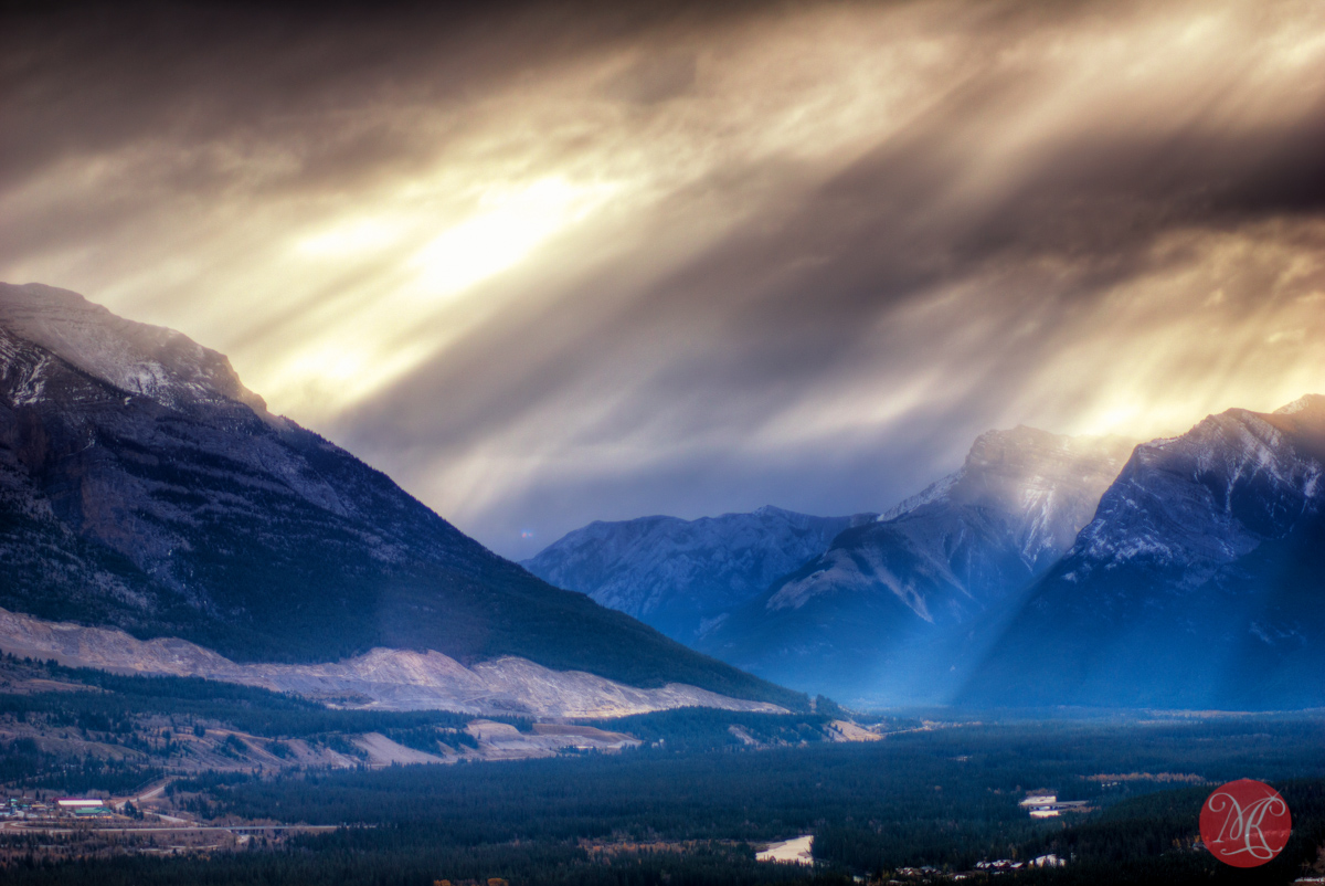 mountain rockies landscape clouds nature
